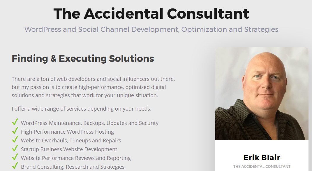 The Accidental Consultant